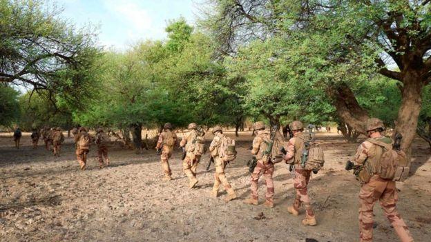 A French army patrols in northern Burkina Faso - November 2019