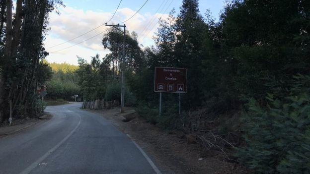 Entrada al pueblo de Ciruelos