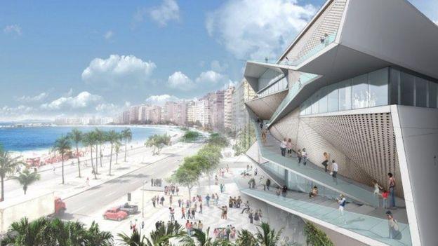 Ilustração do projeto da nova sede do MIS-RJ