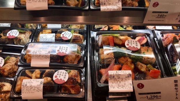 Hộp bento được bày bán trong các siêu thị ở Nhật