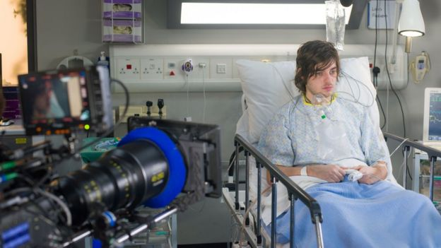 Production still of Casualty episode