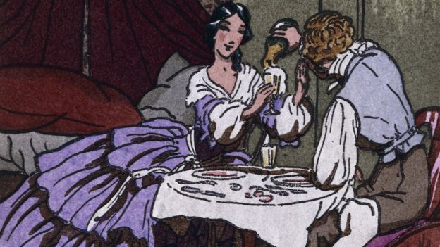 Madame Bovary con su segundo amante, León