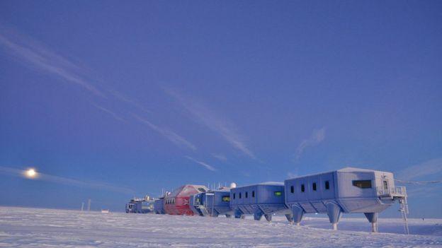 Base Halley del British Antarctic Survey. (Foto: Anthony Dubber)