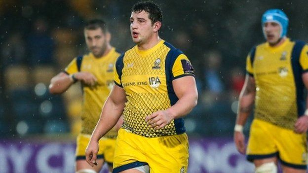 Prop Val Rapava Ruskin crossed for Worcester in time added on at the end of the first half
