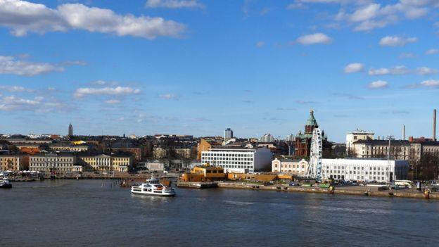 Vista de Helsinque, capital da Finlândia