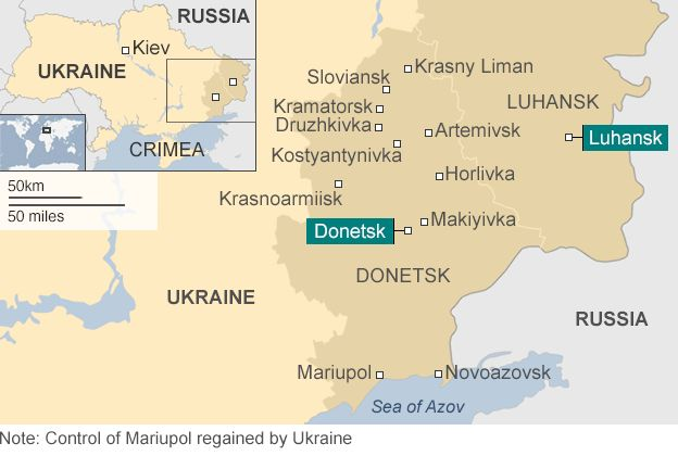 Image result for Donetsk and Luhansk, map