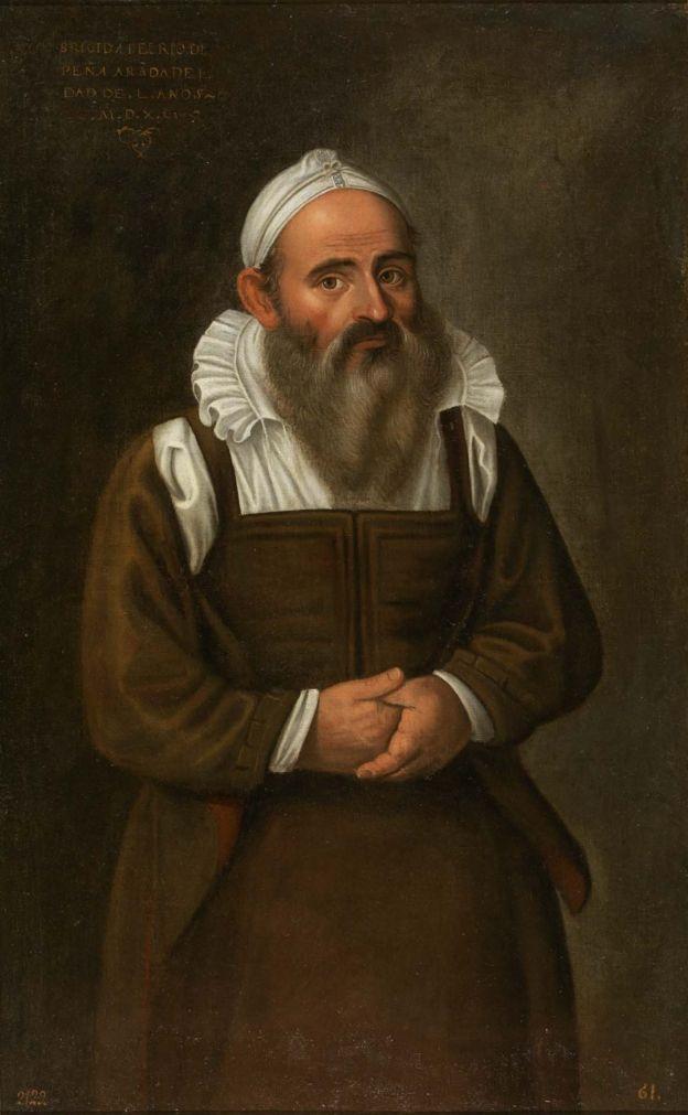 Brígida del Río, la barbuda de Peñaranda, de Juan Sánchez Cotán, 1590
