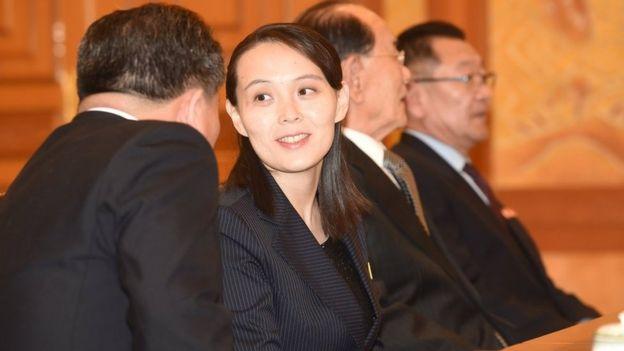 Kim Yo-jong ahead of a meeting with South Korean President Moon Jae-in, 10 February 2018