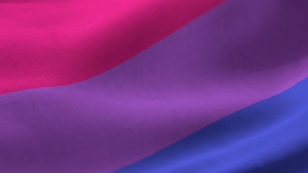 The bisexual pride flag has three colours - pink, purple and blue