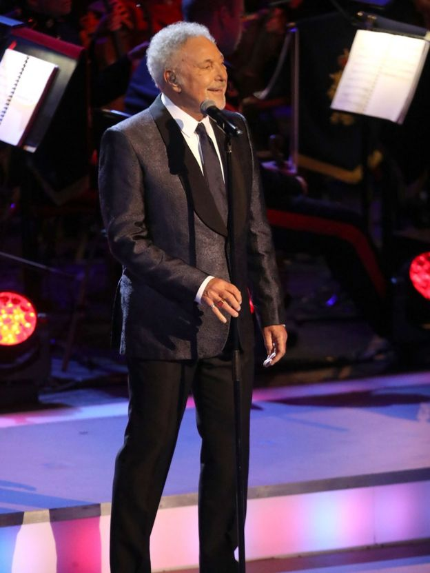 Sir Tom Jones performs