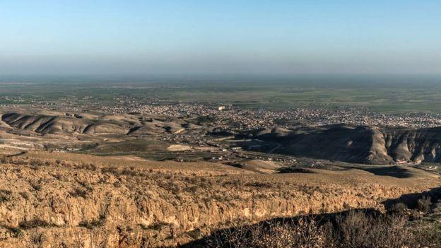 Vista general de la ciudad de Sinjar, en febrero de 2015.