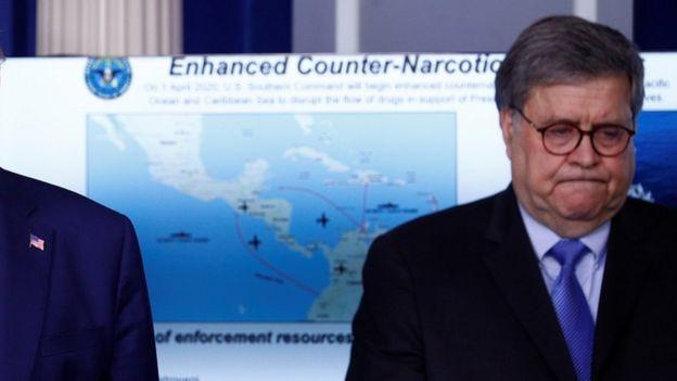 Un mapa presentado en la Casa Blanca