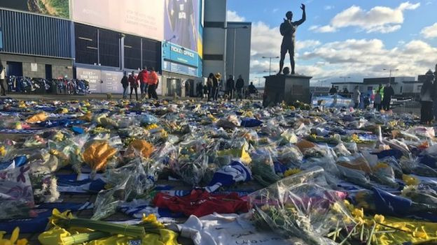 Tributes are laid ahead of Cardiff's game