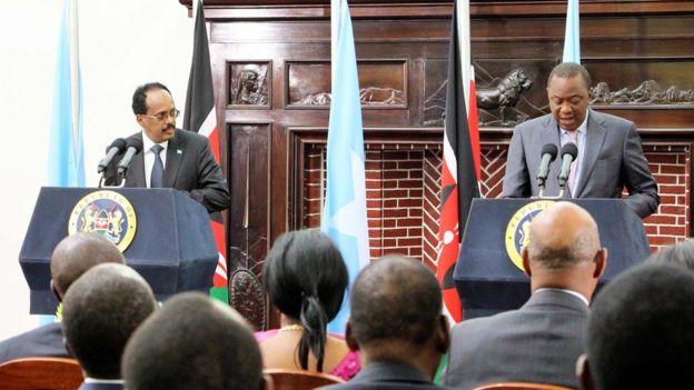 Somalia and Kenya presidents Mohamed Farmajo and Uhuru Kenyatta