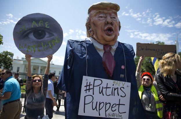 Manifestación en contra de Trump.