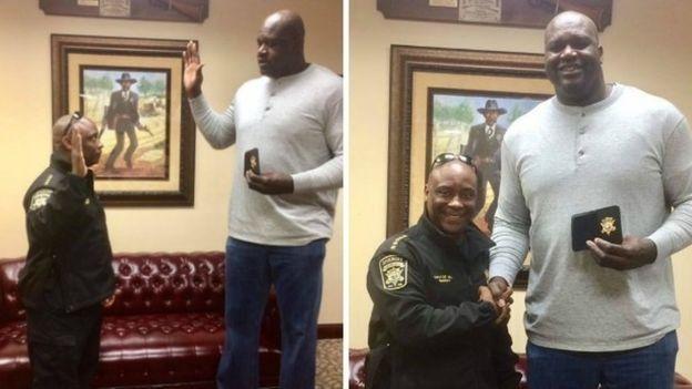Shaquille O'Neal juró como ayudante de sheriff de Georgia el pasado mes de diciembre.