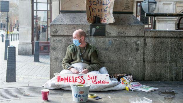 бездомный в Британии