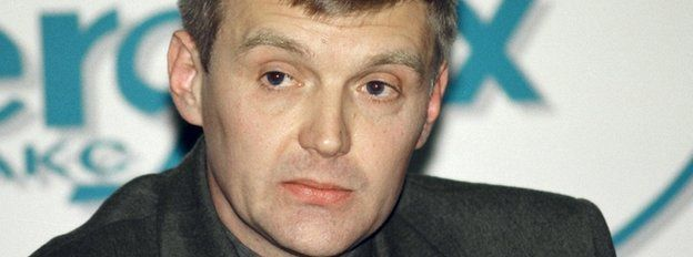 Alexander Litvinenko, pictured at a news conference in Moscow in 1998, when he was an officer of Russia's state security service FSB