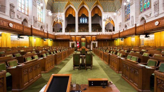 Casa dos Comuns, no Parlamento britânico