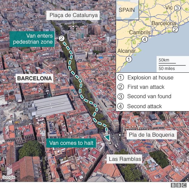 Alcanar Spain Map.Barcelona Attack Spain Terror Cell Had 120 Gas Canisters Bbc News