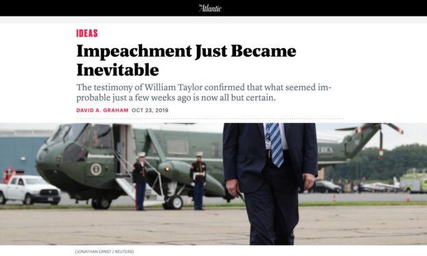 نشریه آتلانتیک هم با توجه به اظهارات ویلیام تایلر را متضمن وقوع استیضاح دانسته است