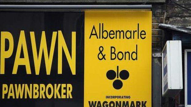 Albemarle and Bond pawnbroker branch