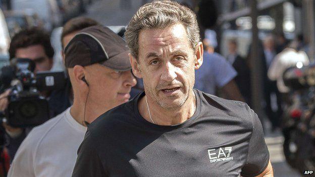 Nicolas Sarkozy jogging, 16 Sep 14