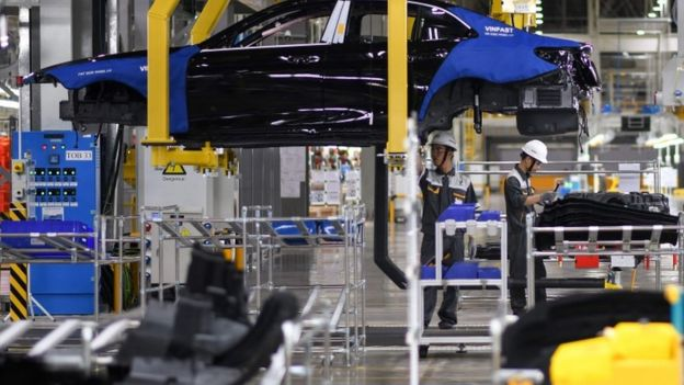 Nhà máy sản xuất ô tô VinFast có công suất thiết kế giai đoạn 1 là 250.000 xe/năm