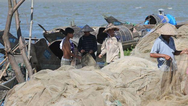 Pescadores en Vietnam