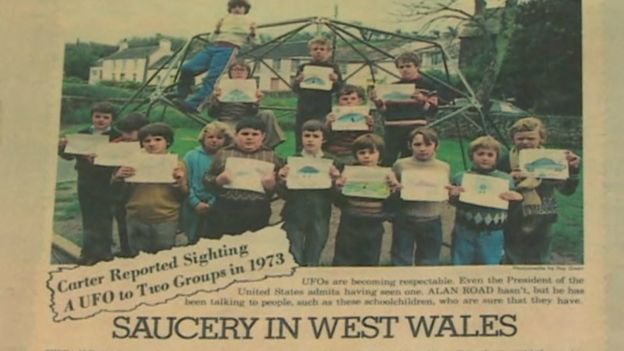 Newspaper cut out of Broad Haven pupils