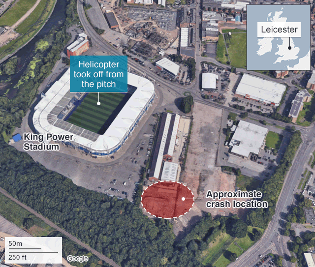 Leicester City Uk Map.Leicester City Helicopter Crash What We Know So Far Bbc News