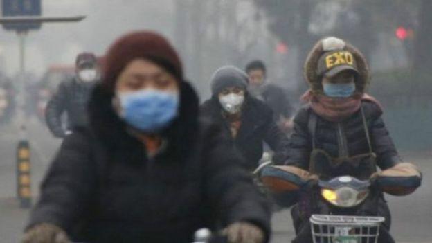 中国空气污染严重