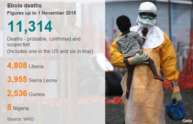 Ebola cases 1 November