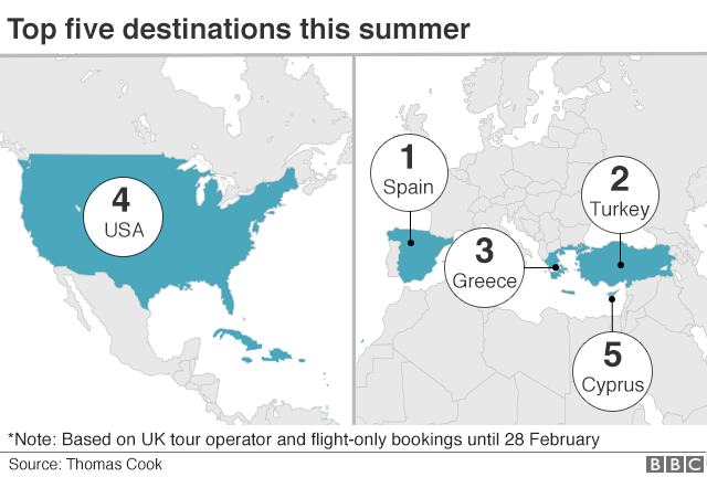 Map Of Uk Holiday Destinations.Fewer Britons Choosing Eu Countries For Holidays Travel Firm Says