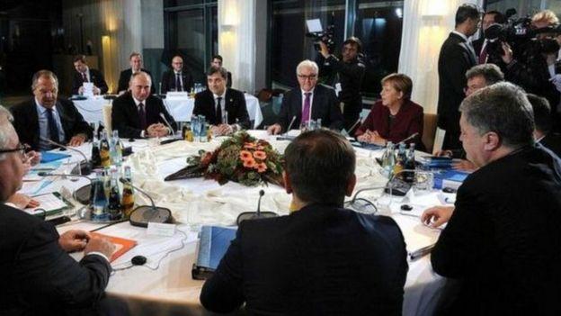 Учасники берлінського саміту, жовтень 2016