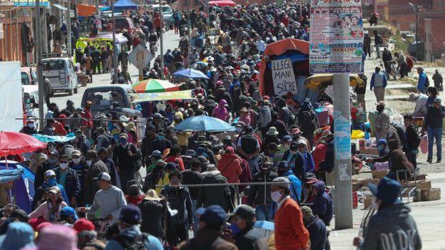 Feria del 16 de julio en El Alto, Bolivia