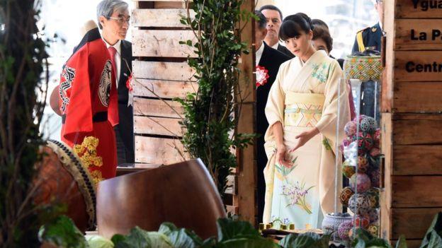 Công chúa Mako đại diện cho Nhật Bản thăm kiều dân Nhật ở Paraguay năm 2016