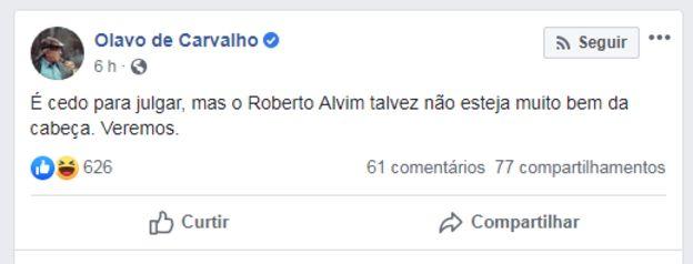 postagem de Olavo de Carvalho