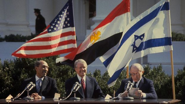 Anwar Sadat, Jimmy Carter e Menachem Begin