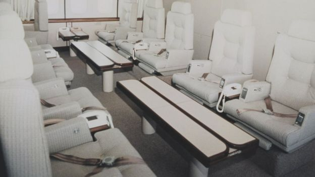 Staff working space on Air Force One, pictured in 1990