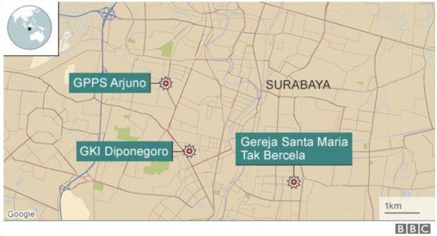 peta ledakan