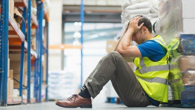 Trabalhador cansado