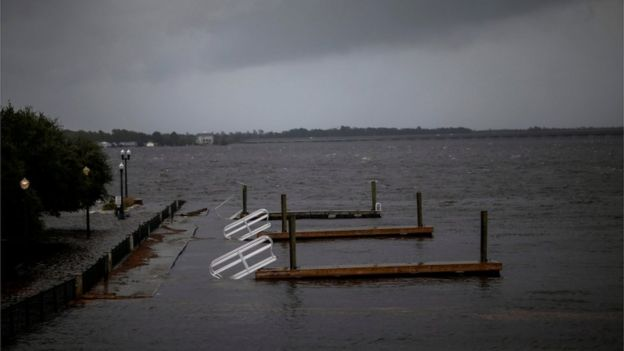 Inundaciones en New Bern, Carolina del Norte.