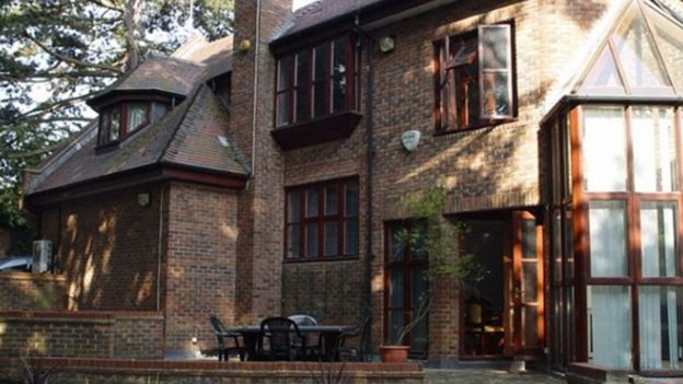 James Ibori's property in Westover Hill, Hampstead, London which was bought in 2001 for £2.2 million in cash