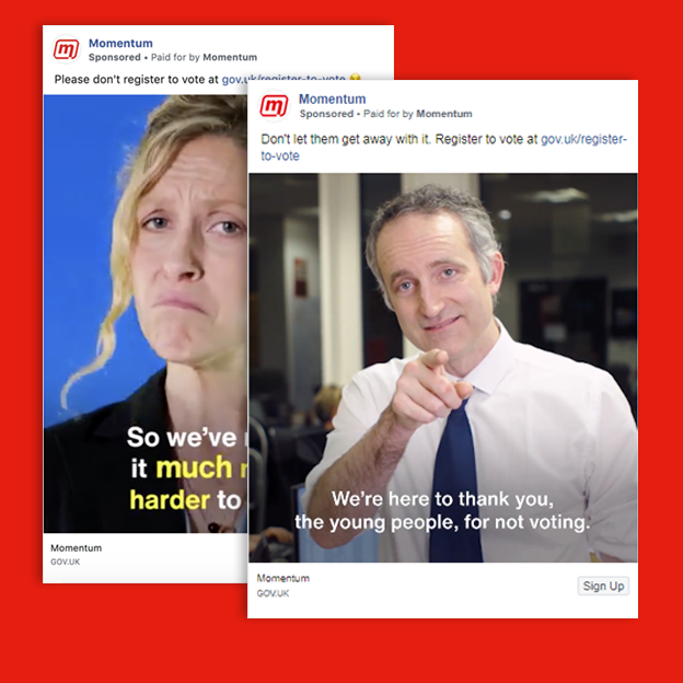 Two ads by Momentum
