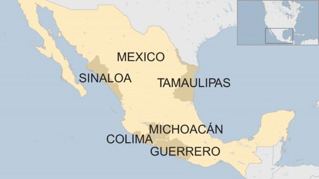 US issues highest travel warning for five Mexican states - BBC News