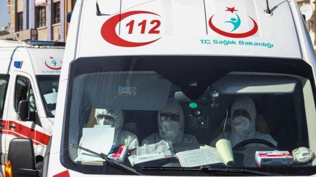 İstanbul'da bir ambulans