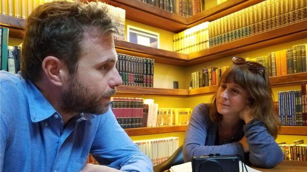 Paolo Giordano y Carolina Robino