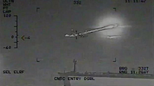 تصویر منتشرشده از طرف نیروی دریایی آمریکا