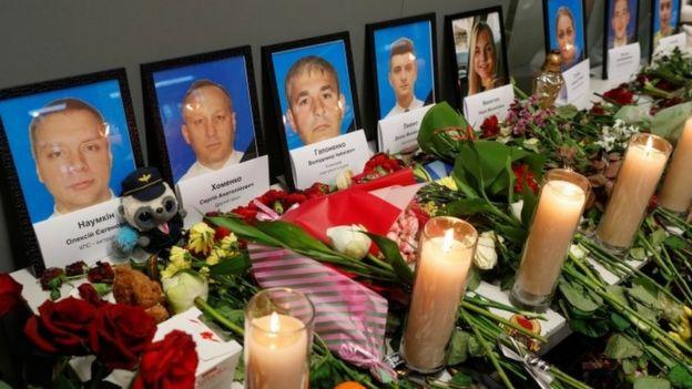 Memorial for victims in Ukraine